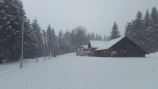 CC skiing - hutte