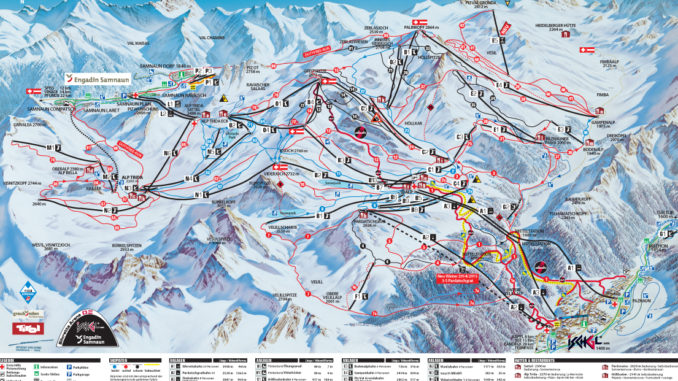 Ischgl Piste Map 2013 -2014